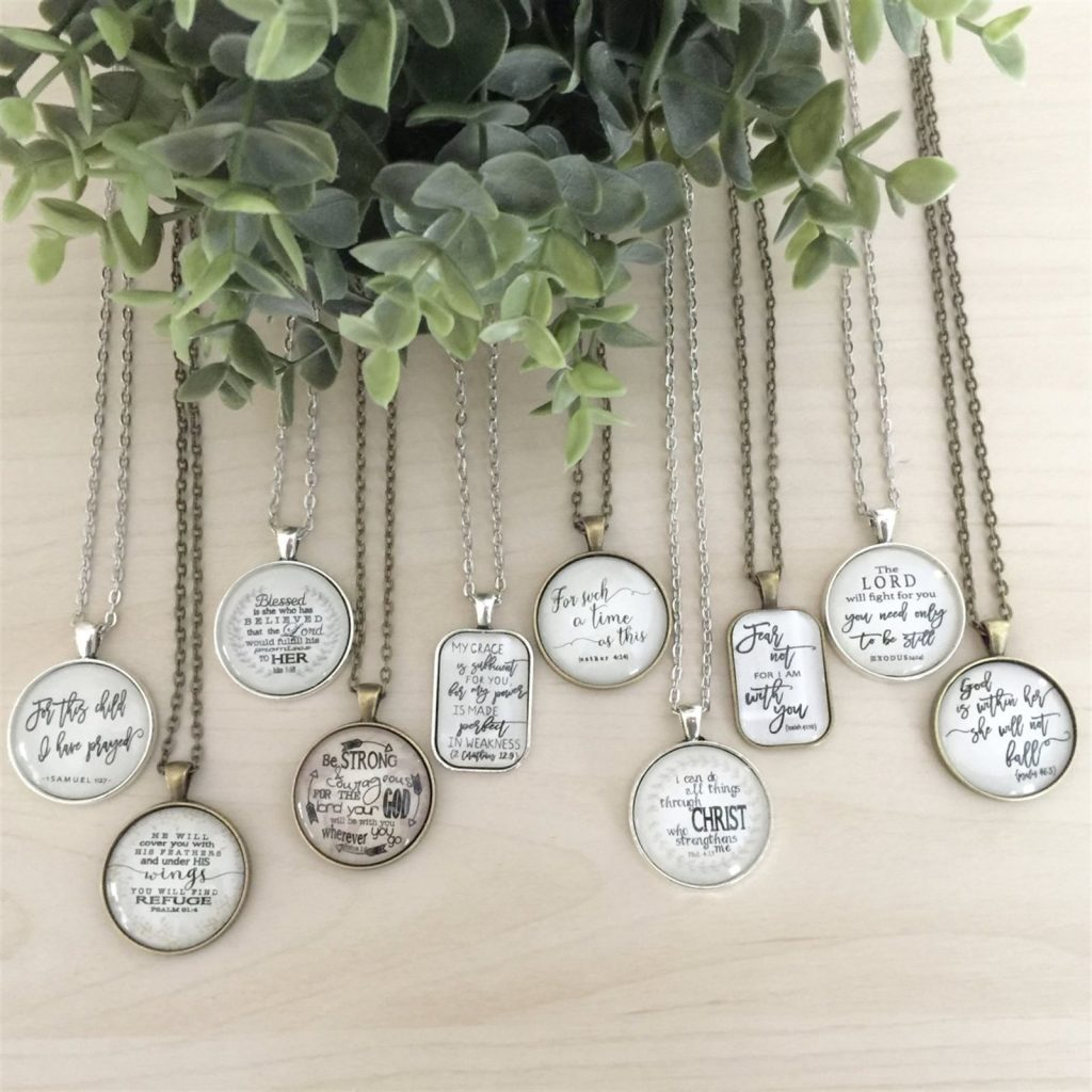 Scripture Pendant Necklaces