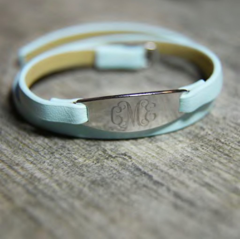 Personalized Charm Leather Bracelet