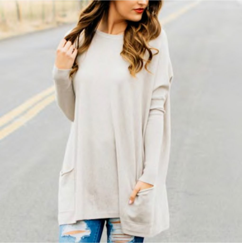Ultra Soft Pocket Sweater