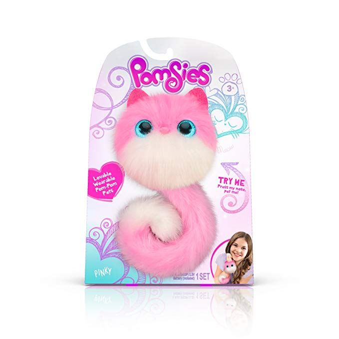 Pomsies Pinky Plush Interactive Toys