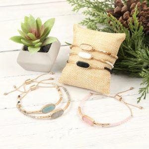 Adjustable Natural Stone Bracelets
