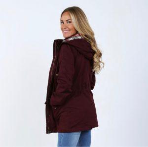 Plaid Hood Jacket