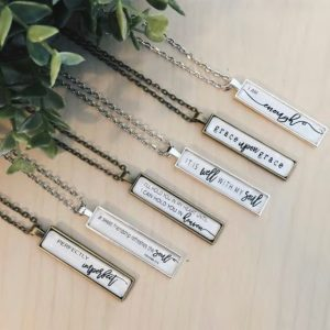 Scripture Bar Necklaces