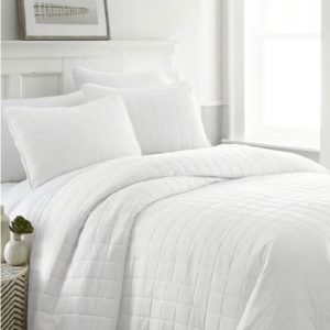 1800 Series Luxury Quilted 3 Piece Coverlet Set