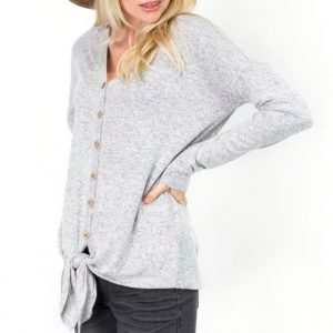 Softest Button & Knot Top