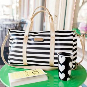 Laurel Striped Duffel Bag