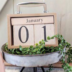 Perpetual Wood Calendar