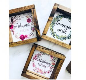 Personalized Mini Wreath Signs