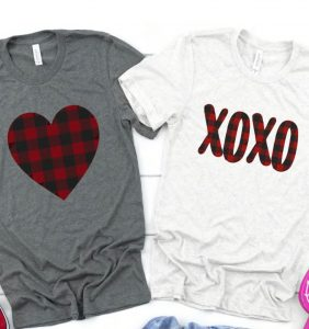Valentine's Buffalo Plaid Tees