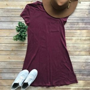 Solid Short Sleeve Dress