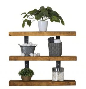 Industrial 3-Tier Floating Shelf