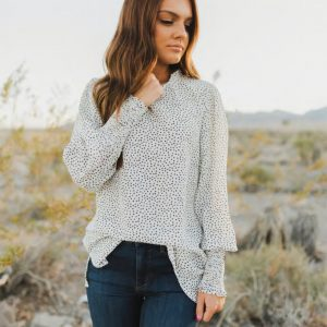 Speckled Dot Blouse In Ivory