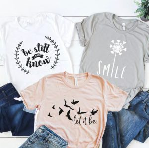 Let It Be Statement Tees