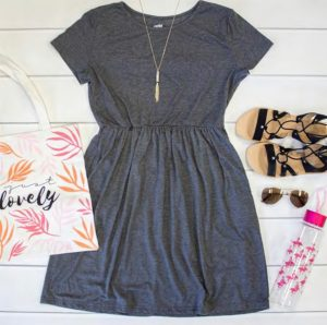 Gathered T-Shirt Dress