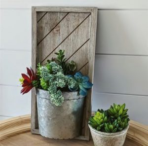 Wood Wall Hanging Planter