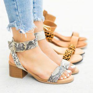 Block Heel Fashion Sandals