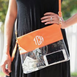 Monogrammed Clear Bags