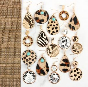 Animal Print Earring Collection