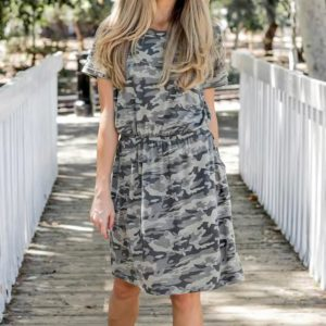 The Camo Kolbie Dress