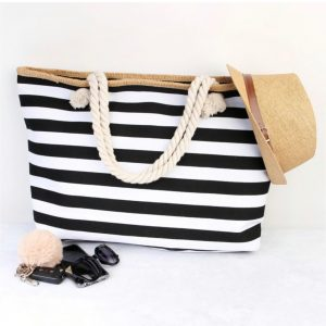 Jumbo Stripe Tote Bags