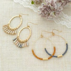 Chic Beaded Hoop Earrings
