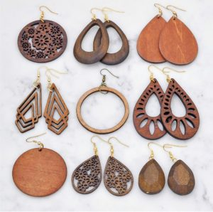 Wood Earrings Blowout