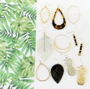 Pineapples & Palms Earring Collection