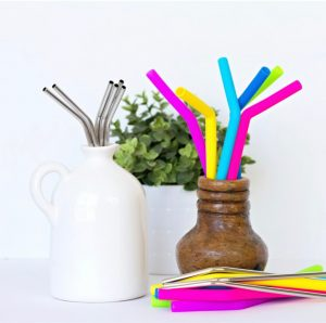 Silicone & Steel Straws
