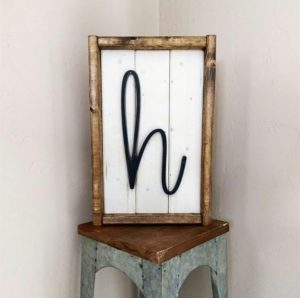 Framed Farmhouse Letters