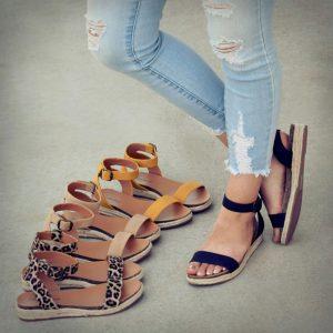 Ankle Strap Espadrille Sandal