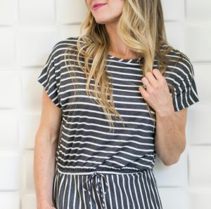 Summer Striped Romper