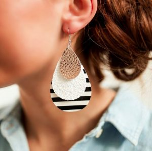 Layered Stripe Earring Collection
