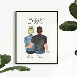 Personalized Couples Art Print